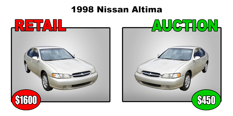 1998 nissan altima retail $1600 auction $450