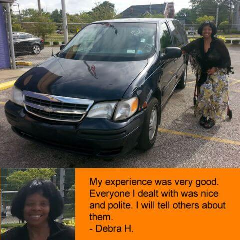"""""""My experience was very good. Everyone I dealt with was nice and polite. I will tell others about them"""" - Debra H."""