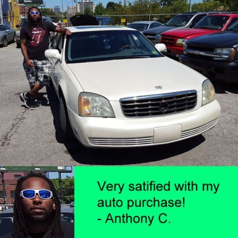 """""""Very satisfied with my auto purchase!"""" - Anthony C."""