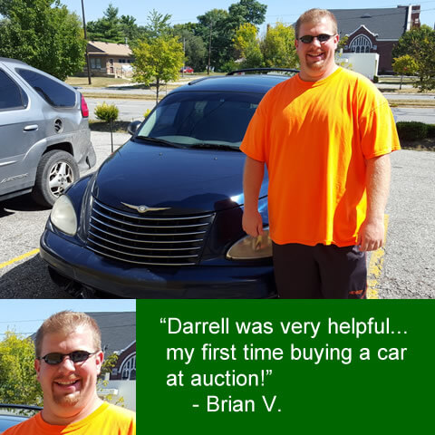 """""""Darrell was very helpful... my first time buying a car at auction!"""" Brian V."""