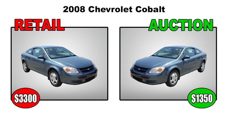 2008 chevy cobalt retail $3300 auction $1350