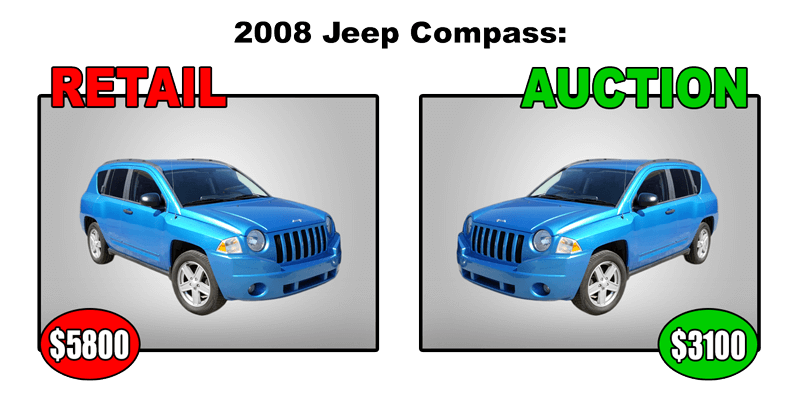 2008 jeep compass retail $5800 auction $3100