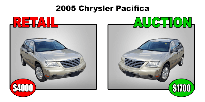 2005 chrysler pacifica retail $4000 auction $1700