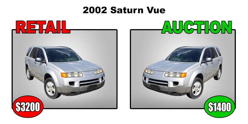 2002 saturn vue retail $3200 auction $1400